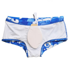 Load image into Gallery viewer, Rio Trunks Brazilian Fit Sungas Blue Floral