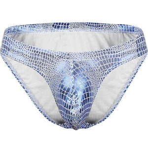 Sheen Holographic Swimsuit Tanga Briefs metallic blue