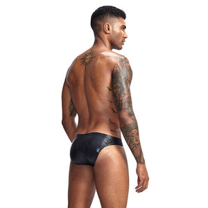 Sheen Holographic Swimsuit Tanga Briefs metallic black
