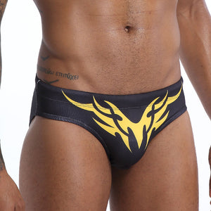 Fire Island Swim Briefs with Tribal Print Speedos black