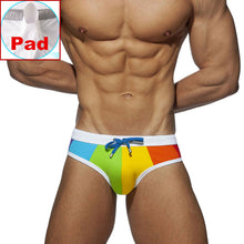 Load image into Gallery viewer, Rainbow Summer Swim Trunks Briefs 'Happy Pride'