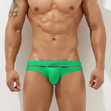 Load image into Gallery viewer, Bali Cut-Out Swim Briefs Green