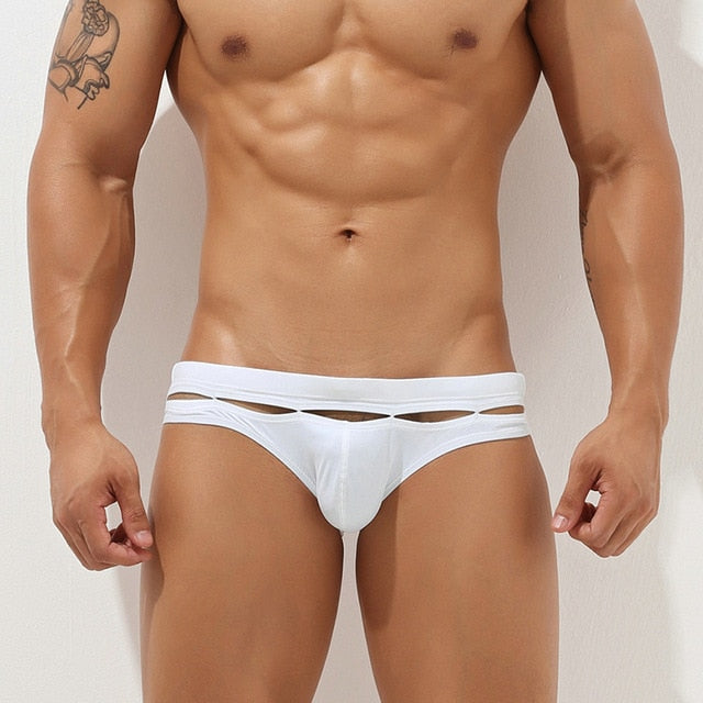 Bali Cut-Out Swim Briefs White