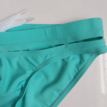 Load image into Gallery viewer, Bali Cut-Out Swim Briefs Turquoise