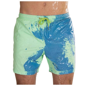 SPLASH! Colour Changing Magical Swim Beach Shorts Lime-Blue