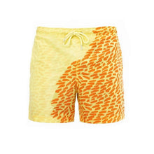 Load image into Gallery viewer, SPLASH! Colour Changing Magical Swim Beach Shorts Yellow-Orange Leo