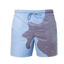 Load image into Gallery viewer, SPLASH! Colour Changing Magical Swim Beach Shorts Blue-Purple