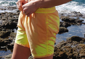 SPLASH! Colour Changing Magical Swim Beach Shorts Yellow-Orange