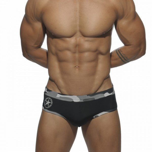 Army Briefs Camouflage Trunks black