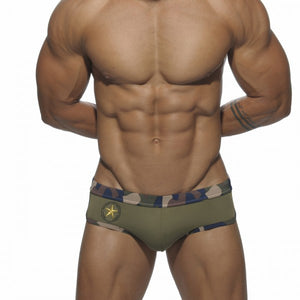 Army Briefs Camouflage Trunks khaki