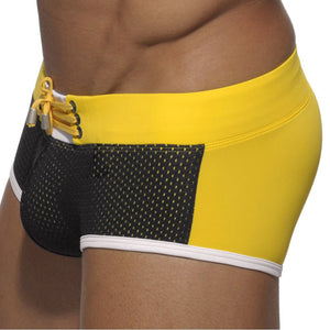 Cape Town Hipsters Lace-Up Mesh Trunks