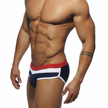 Load image into Gallery viewer, Aruba Briefs Contrast Stripe Speedos dark blue