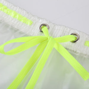 Berlin Transparent Waterproof Beach Shorts lime