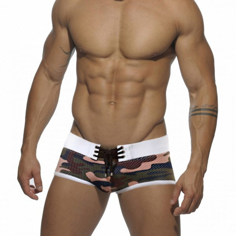 Casablanca Hipsters Camouflage Lace-up Trunks