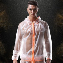 Load image into Gallery viewer, Berlin Transparent Beach Jacket Sheer Hoodie Orange