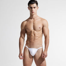 Load image into Gallery viewer, Trinidad Mini Speedo Slip Tanga White to match Berlin Transparent Shorts