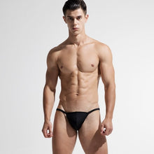 Load image into Gallery viewer, Trinidad Mini Speedo Slip Tanga Black to match Berlin Transparent Shorts