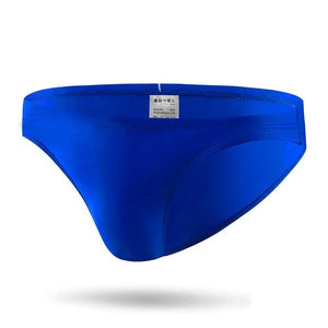 Taipei  Mens Swim Briefs Low Waist Rainbow String Speedos Roayl Blue