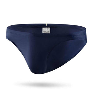 Taipei Mens Swim Briefs Low Waist Rainbow String Speedos Navy Blue