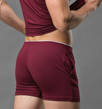 Load image into Gallery viewer, Barcelona Boxers sexy Loungewear wine