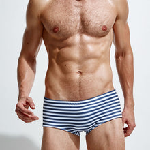 Load image into Gallery viewer, Retro Briefs Swimwear High Waist blue-white