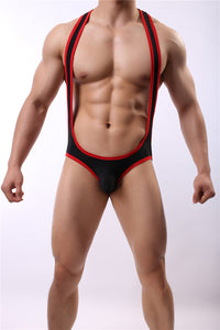 Hunk Men Onesie Wrestling Suit Swimwear