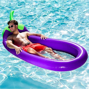 Emoji Eggplant Pool Float Aubergine purple