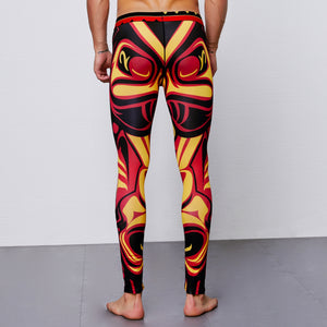 Tiki Tribal Gym  Leggings for Men