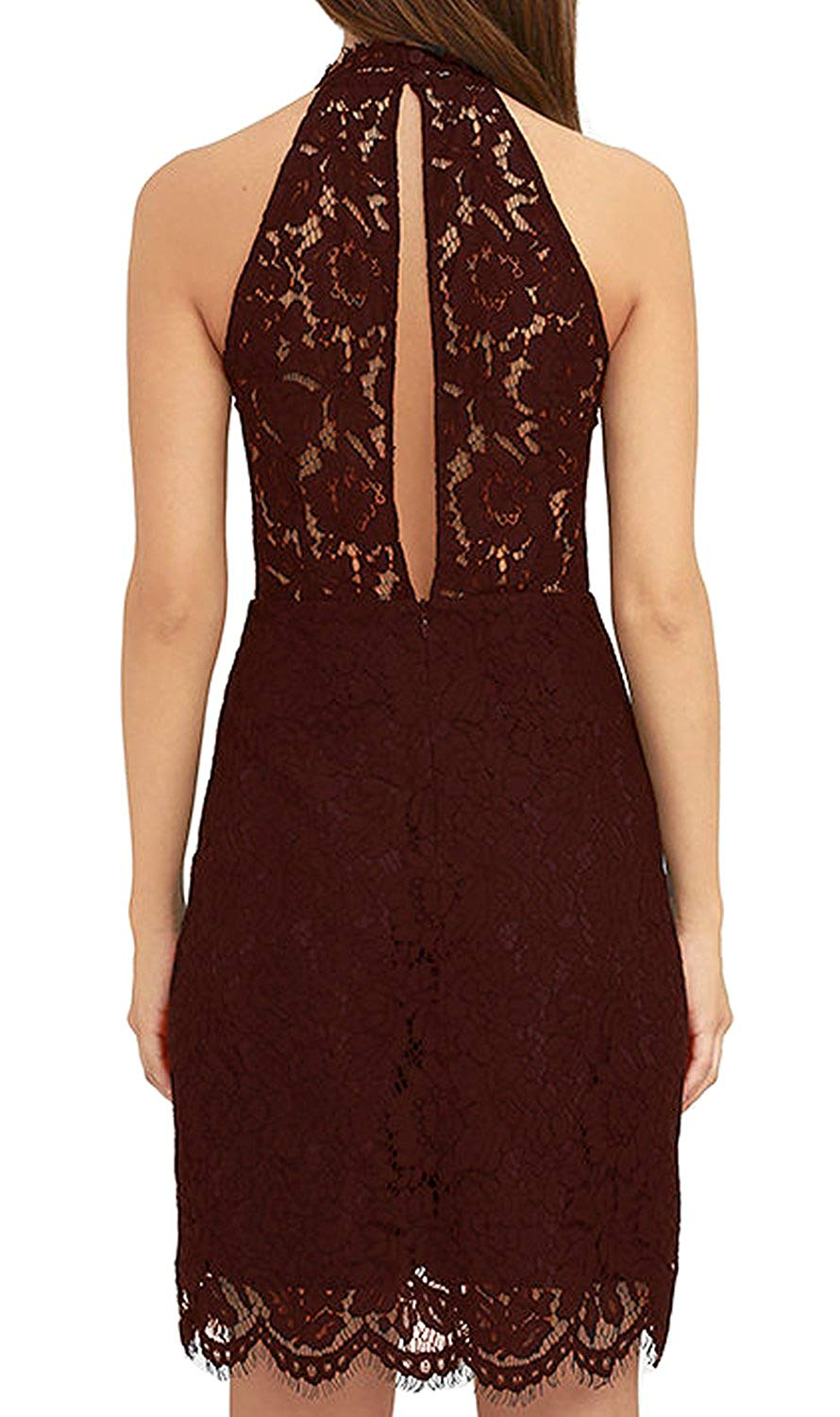 adb175963 ... Load image into Gallery viewer, Zalalus Women's Cocktail Dress High  Neck ...
