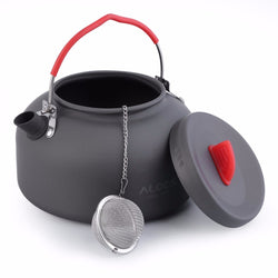 Alocs 1.4L Aluminum CW-K03 Outdoor Kettle Camping Picnic Water Teapot Coffee Pot free shipping - fishingnvarieties.store