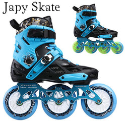 Japy Skate Professional Adult Roller Skating Shoes 4*80 Or 3*110mm Changeable Slalom Speed Patines Free Skating Racing Skates