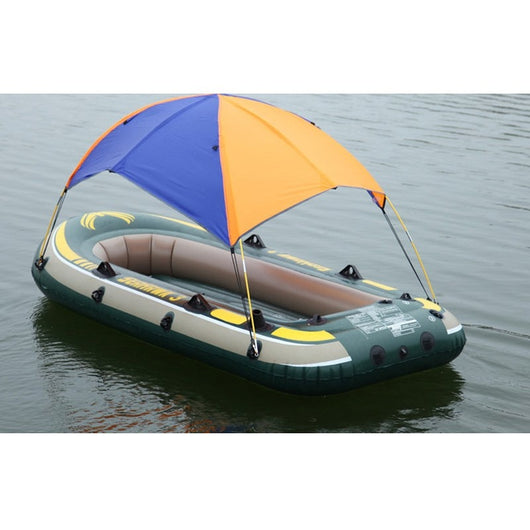 New 2 Person Inflatable Boat Sun Shelter Awning Sun Shade Rain Cover Fishing Tent for Fishing Boat Accessories Kayak Canoe Kit - fishingnvarieties.store