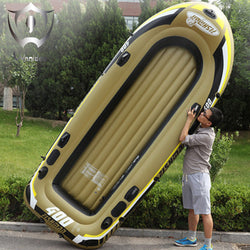 2018 Wnnideo Inflatable PVC Rubber Boat Fishing Thickened Double Kayak Fishing Vessel Hovercraft with Paddles 305cm ZF6-2901 - fishingnvarieties.store