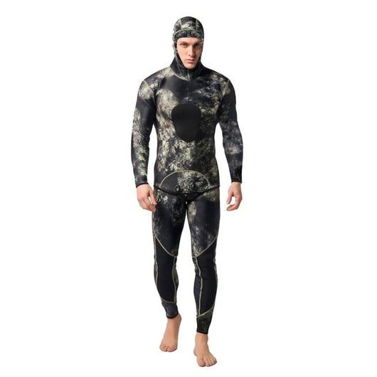 TOP 3mm Diving suit, Neoprene Men Pesca diving spearfishing Wetsuit surf snorkel swimsuit Split Suits combination, surf wet suit - fishingnvarieties.store