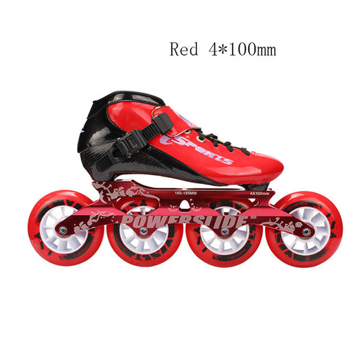 Speed Inline Skates Carbon Fiber Professional 4*100/110mm Competition Skates 4 Wheels Racing Skating Patines Similar Powerslide - fishingnvarieties.store