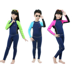 2MM Children Neoprene Swim Wetsuit Block Uv Surf Bathing Conjoined Diving Suit Sea Diving Floating Snorkeling Clothes Swimsuit - fishingnvarieties.store
