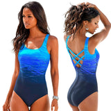 Gradient Crisscross Backless Swimsuit - fishingnvarieties.store