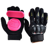 1 Pair Full Finger Shockproof Longboard Skateboard Glove With Protective Sliders Professional Down Hill Skate Board Gloves
