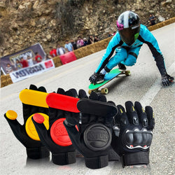 Professional Longboard Gloves Protective Slide Roller Friction Skateboard Skate Gloves Down Hill Skate Accessoriesg