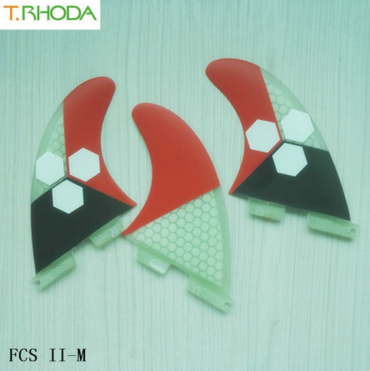 SRFDA Surf Fins Fcs/Fins quillas quilhas Keels 3pcs High Quality FCS-G5 Honeycomb Fiberglass Tail Surfboard Thrusters Rudder A $ - fishingnvarieties.store