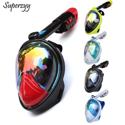 Diving Mask Underwater Scuba Anti Fog Full Face Diving Mask Snorkeling Set with Anti-skid Ring Snorkel 2018 New Arrival - fishingnvarieties.store