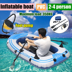 fishman Sports, Inflatable Fishing Boat Raft PVC Canoe Dinghy Tender 2/3/4 Person Kayak Fishing Boats Cushion Rowing Boats - fishingnvarieties.store