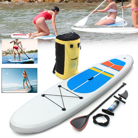 Gofun 330 * 81 * 10cm Stand Up Paddle Surfboard Inflatable Board SUP Set W ave Rider + Pump inflatable surf board paddle boat - fishingnvarieties.store