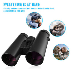 Outdoor Fully Coated 10x42 Zoom Binoculars Telescope for Camping Hunting + Bag - fishingnvarieties.store