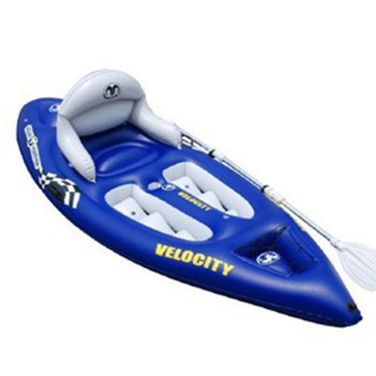 Hyperspeed aquamarina velocity single canoe aluminum alloy kayak pvc boat - fishingnvarieties.store
