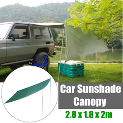 Awning Rooftop Shelter Tent Camping Travel Sunshade Canopy 2.8X1.8X2m Waterproof - fishingnvarieties.store