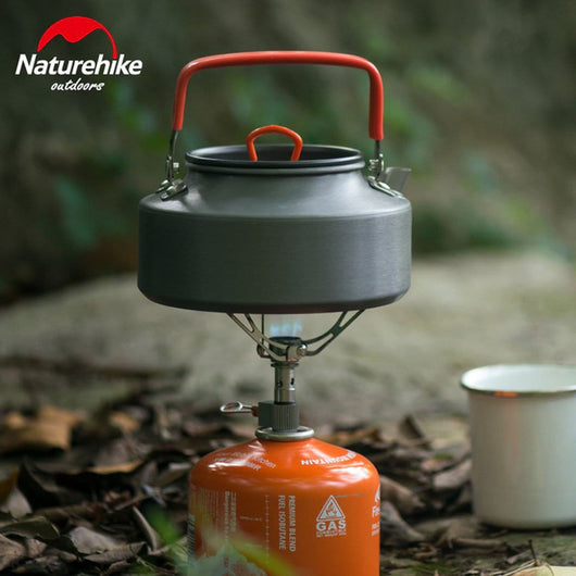 1.1L Portable Camp Kettle Teapot Campfire Outdoor Camping Picnic Hiking BBQ Pot - fishingnvarieties.store