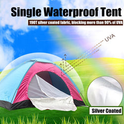 Single Waterproof Tent Portable Outdoor Camping Hiking Fishing Bivvy Shelter - fishingnvarieties.store