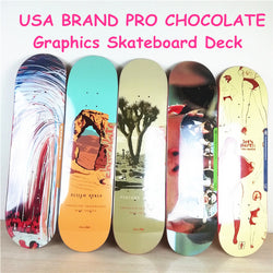 USA BRAND PRO Lasest design 1PC 8i 8.125 8.25 inch Chocalate Pro Skateboard Deck 7 Layers Full Canadian Maple Skate Board Deck - fishingnvarieties.store