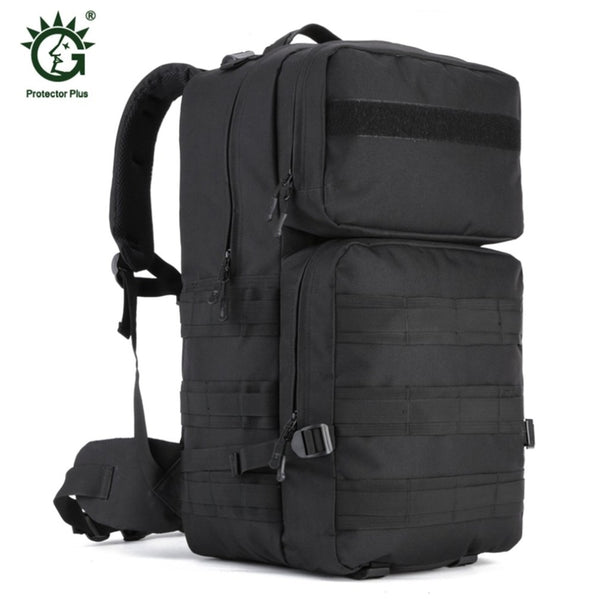 55L Nylon Outdoor Bag Military Tactical Bags Backpack Army Molle Waterproof Large Size Camping Hiking Bag Hunting Backpack - fishingnvarieties.store